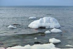 Glace, mer, neige, froid, hiver, paysage, voyage, Baltique, tourisme photos libres de droits