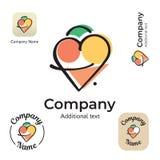 Glace mignonne ! message publicitaire de Logo Modern Identity Beautiful Brand de rame de _ et calibre réglé de concept de symbole illustration de vecteur