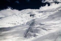 Glace, neige, ciel et montagnes chez Pamir Photo libre de droits
