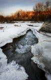 glace novembre Photos libres de droits