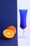 Glace orange et bleue Images stock