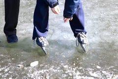 Glace-patinage Image libre de droits
