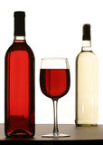 Glace remplie de vin rouge Photo libre de droits