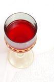Glace rouge de vin Image libre de droits