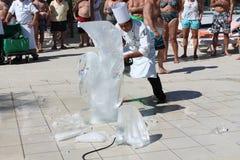 Glace sculptant au Mexique Images libres de droits
