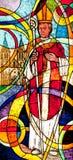 Glace souillée affichant l'évêque photographie stock
