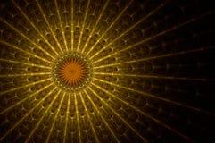 Glace souillée d'église Image stock