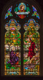 Glace souillée d'église de Peter de saint dans Gramado Image libre de droits