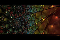 Glace souillée de fond abstrait coloré Image libre de droits