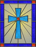 Glace souillée réaliste de croix celtique Images stock