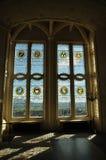 Glace souillée Windows, château de Stirling photos stock