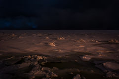Glace sur la mer Image stock