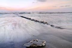 Glace sur la mer baltique Photographie stock