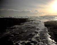 Glace sur la plage photographie stock libre de droits