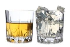 Glace sur le cocktail Image libre de droits