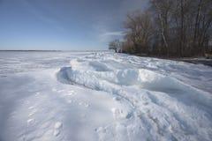 Glace sur le lac Photographie stock libre de droits
