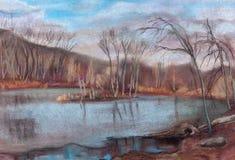 Glace sur le lac Images libres de droits