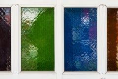 Glace transparente colorée Photo stock