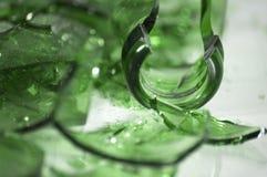 Glace verte cassée Photo libre de droits