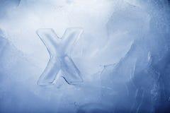 Glace X Photos libres de droits