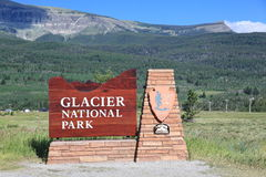 Glacer National Park Sign royalty free stock image
