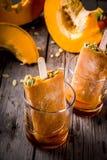 Glaces à l'eau de crème glacée de potiron Image libre de droits