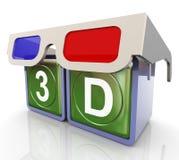 glaces 3d avec le texte 3d Photos stock