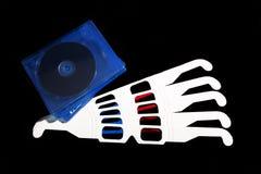 glaces 3D sur un fond noir Photos libres de droits