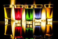 Glaces avec des cocktails Images libres de droits