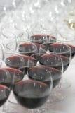 Glaces avec du vin Photos libres de droits
