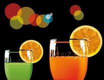 Glaces avec l'orangeade verte et Photo libre de droits