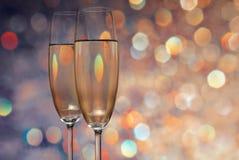Glaces avec le champagne Photographie stock libre de droits