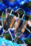 Glaces avec le champagne photo libre de droits