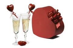 Glaces avec le champagne Images libres de droits
