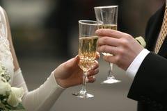 Glaces avec le champagne Images stock