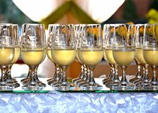 Glaces avec le champagne Image stock
