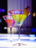 Glaces avec le cocktail image stock