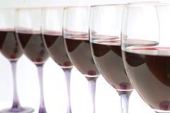 Glaces avec le vin rouge Images libres de droits