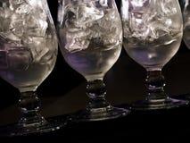 Glaces avec les boissons alcoolisées photos libres de droits