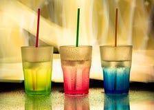 Glaces colorées Photographie stock libre de droits