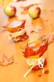 Glaces décorées d'Apple Cid photographie stock