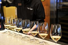 Glaces d'échantillon de vin Photographie stock libre de droits
