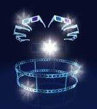 Glaces dans le hall de cinéma avec le film Photos libres de droits
