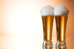 Glaces de bière Images libres de droits