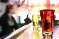 Glaces de bière Photo libre de droits