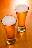 glaces de bière deux Photographie stock