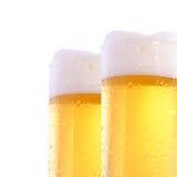 glaces de bière deux Photos libres de droits