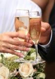 Glaces de champagne Photographie stock libre de droits