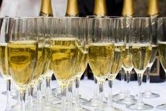 Glaces de champagne de pétillement Photo libre de droits