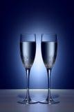 Glaces de champaigne de Valentine photographie stock